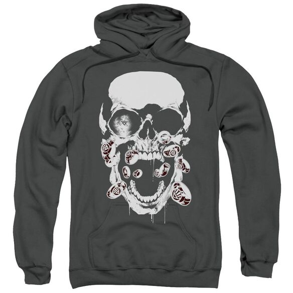 Green Lantern Black Lantern Skull Adult Pull Over Hoodie