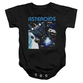 Atari 2600 Asteroids Infant Snapsuit Black
