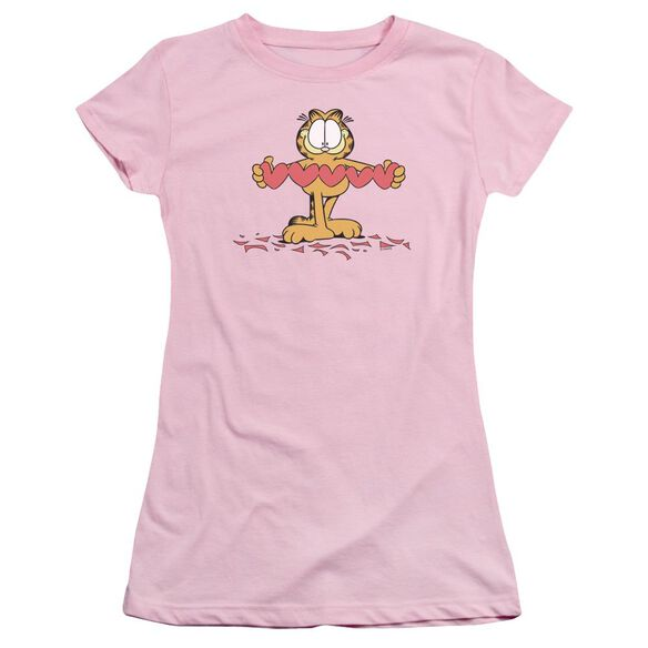 Garfield Sweetheart Short Sleeve Junior Sheer T-Shirt