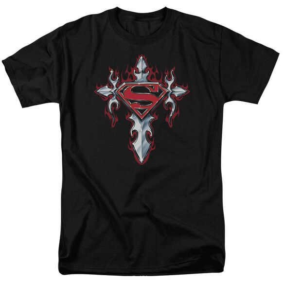 Superman Gothic Steel Logo Short Sleeve Adult T-Shirt