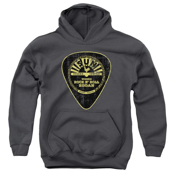 Sun Guitar Pick Youth Pull Over Hoodie