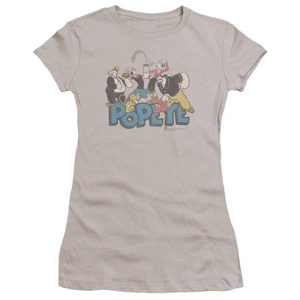 Popeye The Gang Premium Bella Junior Sheer Jersey