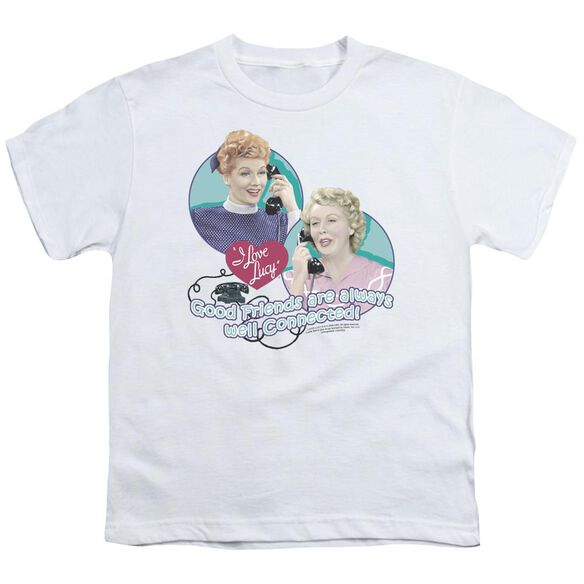 Lucy Always Connected Short Sleeve Youth T-Shirt