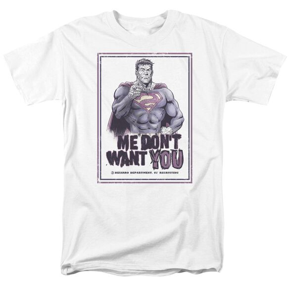 SUPERMAN DONT WANT YOU - S/S ADULT 18/1 - WHITE T-Shirt