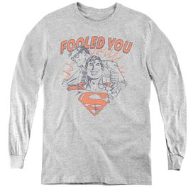 Dc Fooled You - Youth Long Sleeve Tee - Athletic Heather