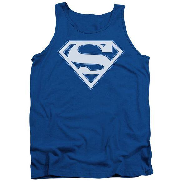 Superman & White Shield Adult Tank Royal
