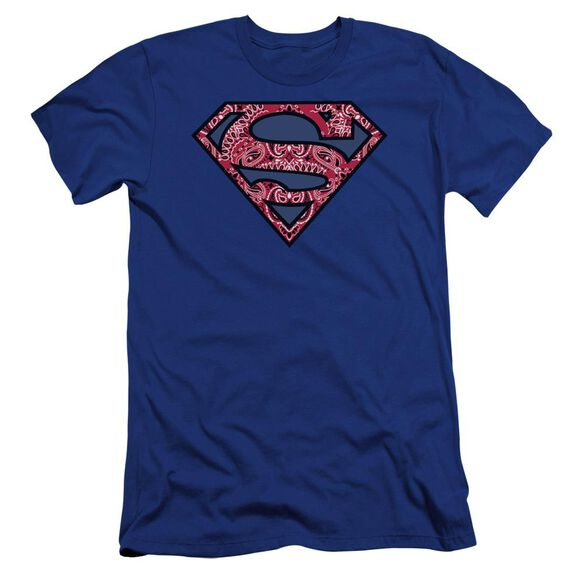 Superman Paisley Shield Premuim Canvas Adult Slim Fit Royal