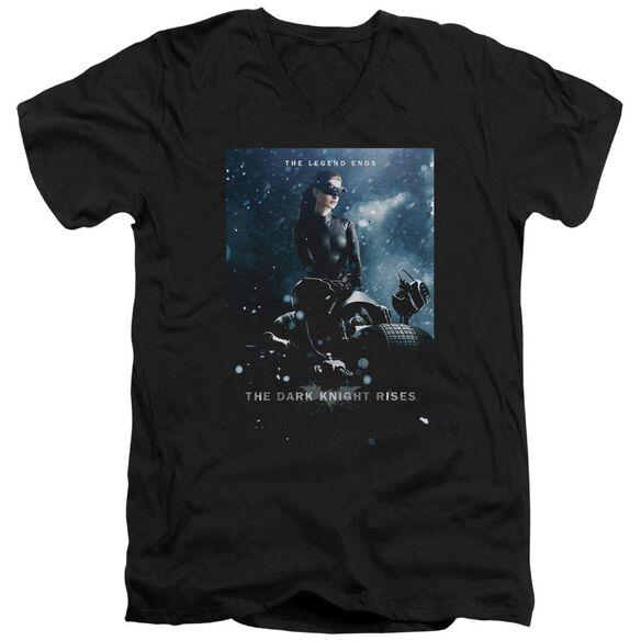 Dark Knight Rises Catwoman Poster Short Sleeve Adult V Neck T-Shirt