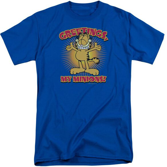 Garfield Minions Short Sleeve Adult Tall Royal T-Shirt