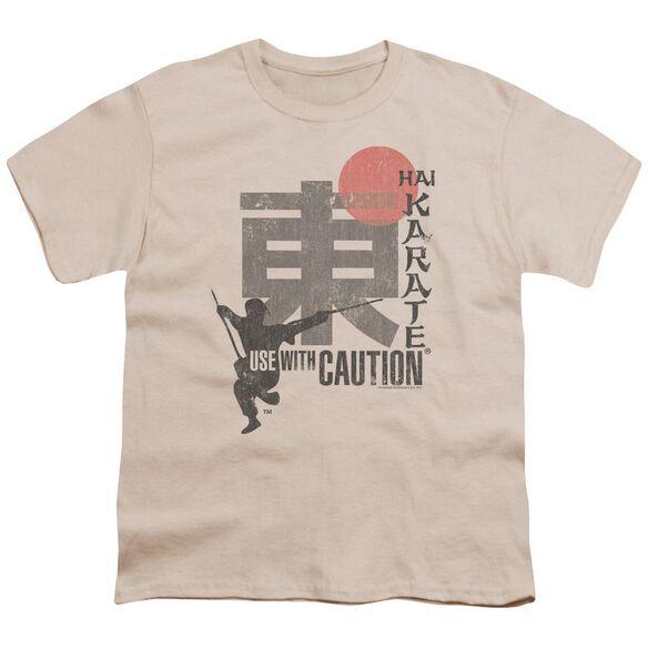 Hai Karate Caution Short Sleeve Youth T-Shirt