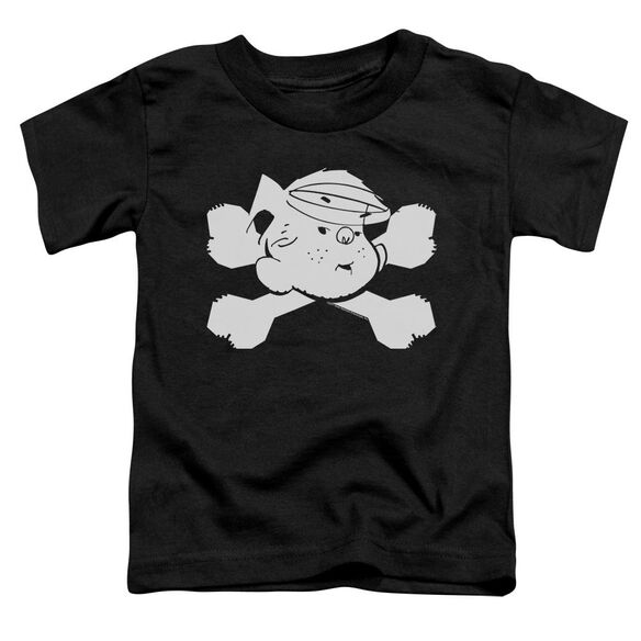 Dennis The Menace Bad To The Bone Short Sleeve Toddler Tee Black T-Shirt