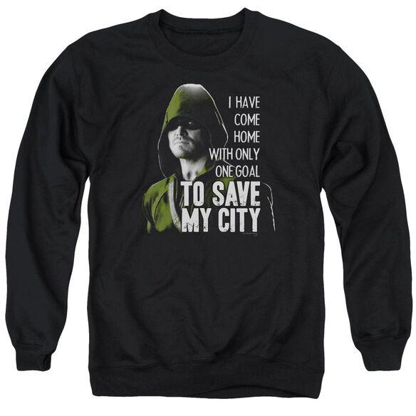 Arrow Save My City Adult Crewneck Sweatshirt