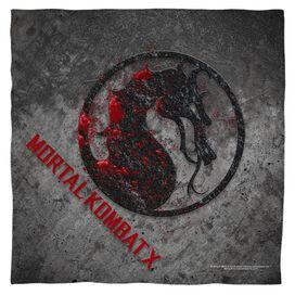 Mortal Kombat X Stone Logo Bandana White