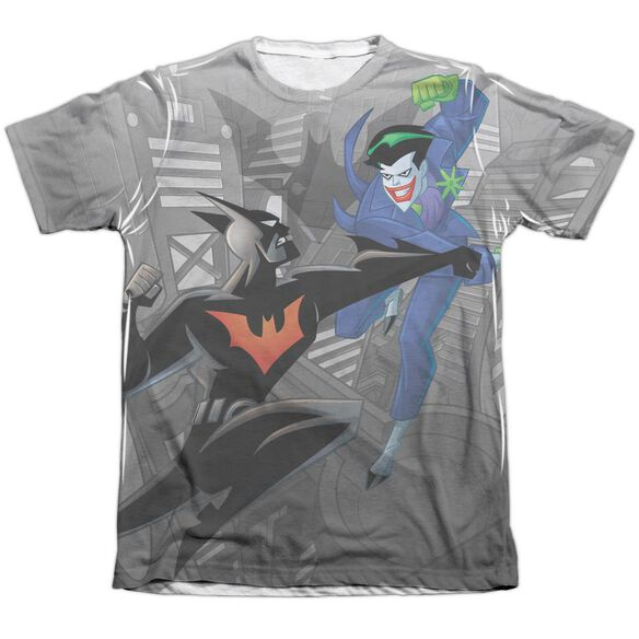 Batman Beyond Baddie Battle Adult Poly Cotton Short Sleeve Tee T-Shirt