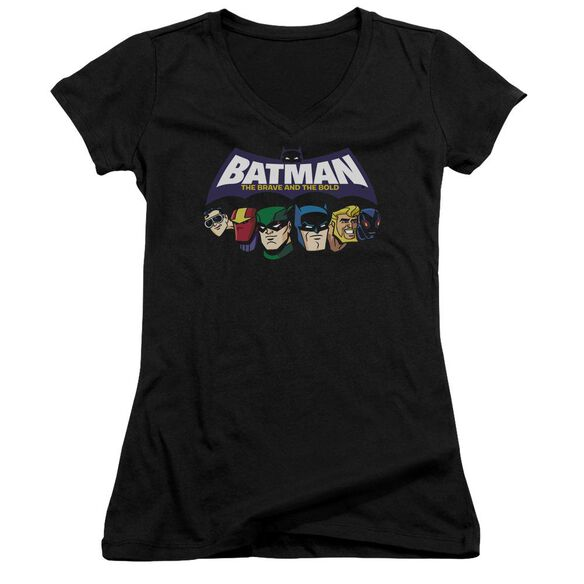 Batman Bb Head Lineup Junior V Neck T-Shirt