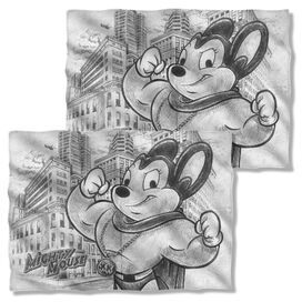 Mighty Mouse Sketch (Front Back Print) Pillow Case