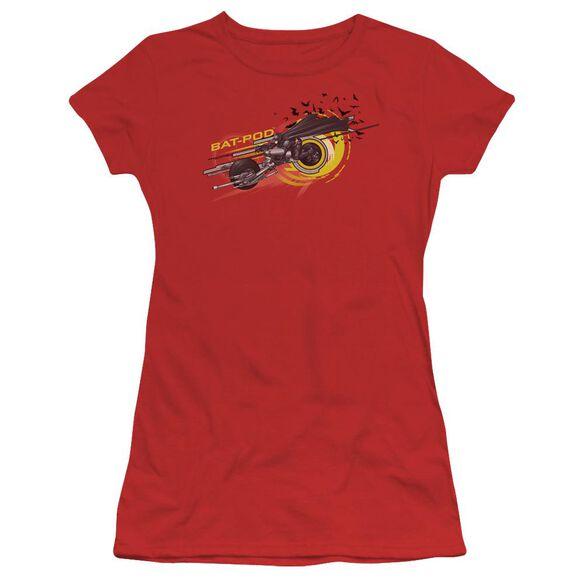 Dark Knight Bat Pod Short Sleeve Junior Sheer T-Shirt