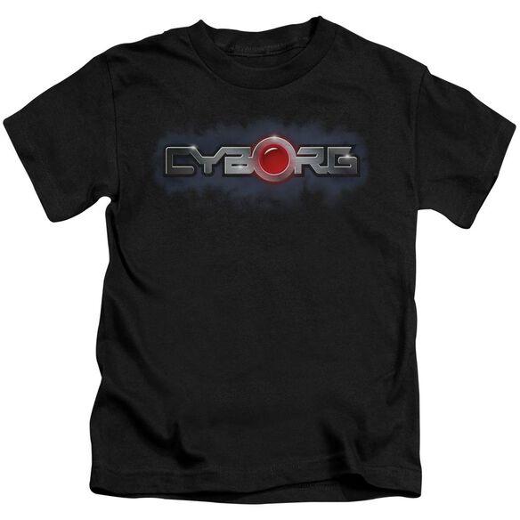 Jla Cyborg Title Short Sleeve Juvenile T-Shirt