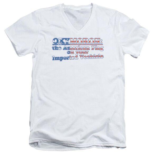 Oxymoron Short Sleeve Adult V Neck T-Shirt