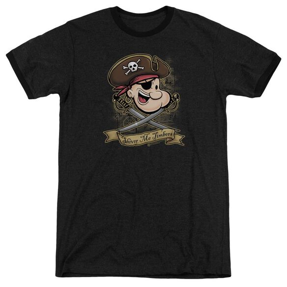 Popeye Shiver Me Timbers Adult Heather Ringer