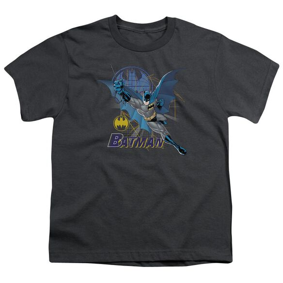 Batman Cape Outstretched Short Sleeve Youth T-Shirt
