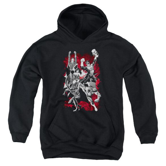 Jla Jla Explosion Youth Pull Over Hoodie