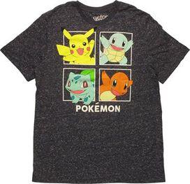 Pokemon Starter Pokemon Squares T-Shirt Sheer