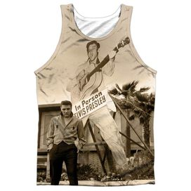 Elvis Larger Than Life Adult 100% Poly Tank Top