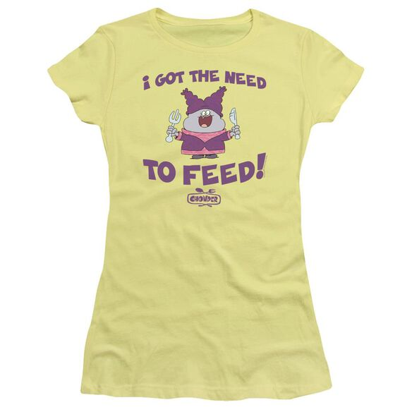 Chowder The Need Short Sleeve Junior Sheer T-Shirt