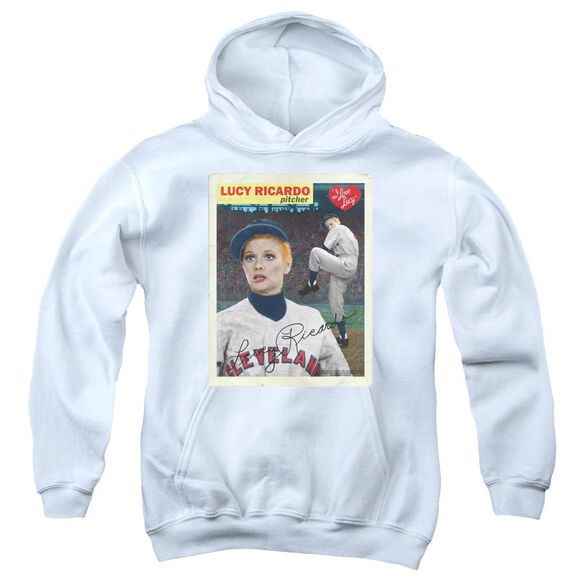 I Love Lucy Trading Card Youth Pull Over Hoodie