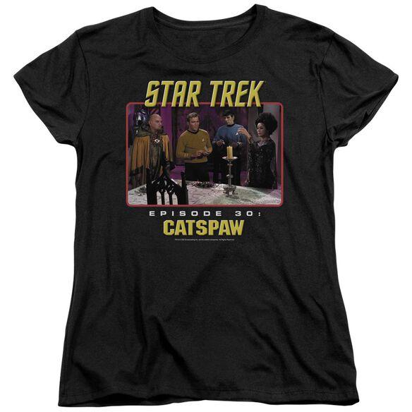 Star Trek Original Cats Paw Short Sleeve Womens Tee T-Shirt