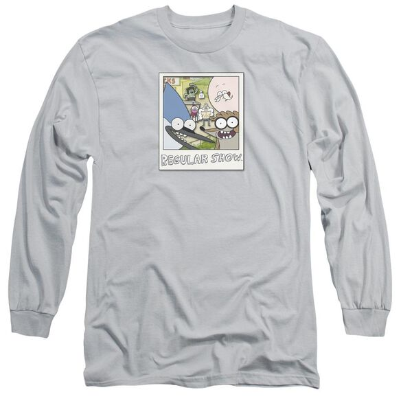 Regular Show Instant Picture Long Sleeve Adult T-Shirt