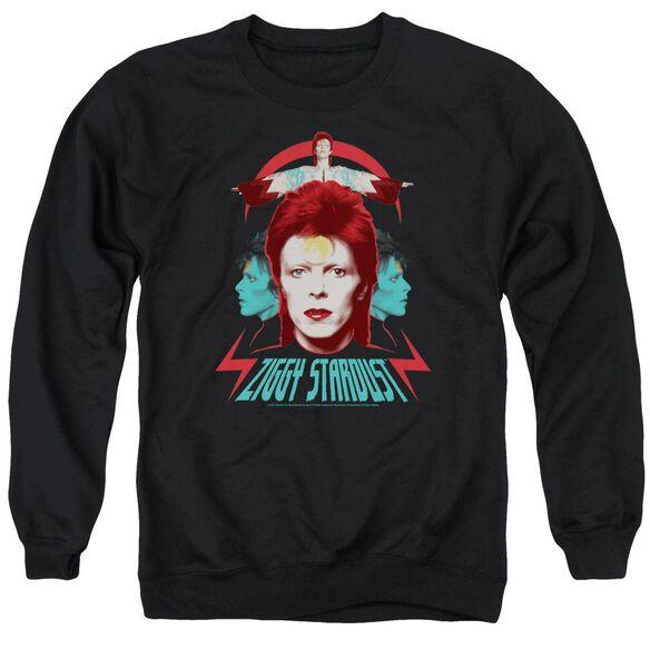 David Bowie Ziggy Heads Adult Crewneck Sweatshirt