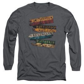 Harry Potter Burnt Banners Long Sleeve Adult T-Shirt