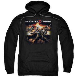 Infinite Crisis Batmen Adult Pull Over Hoodie Black