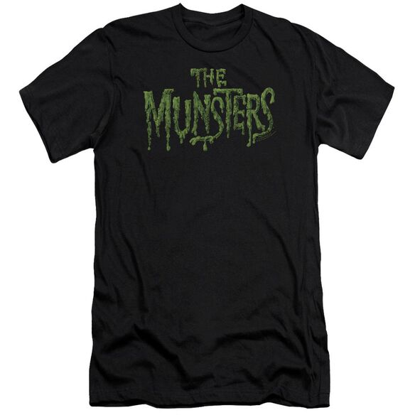 The Munsters Distress Logo Premuim Canvas Adult Slim Fit