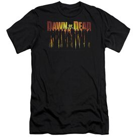 Dawn Of The Dead Walking Dead-premuim Canvas Adult Slim