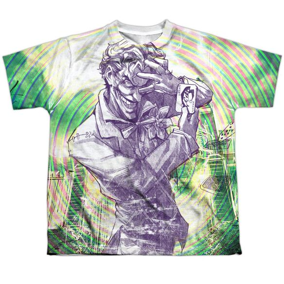 Batman Mad Mad Swirl Short Sleeve Youth Poly Crew T-Shirt