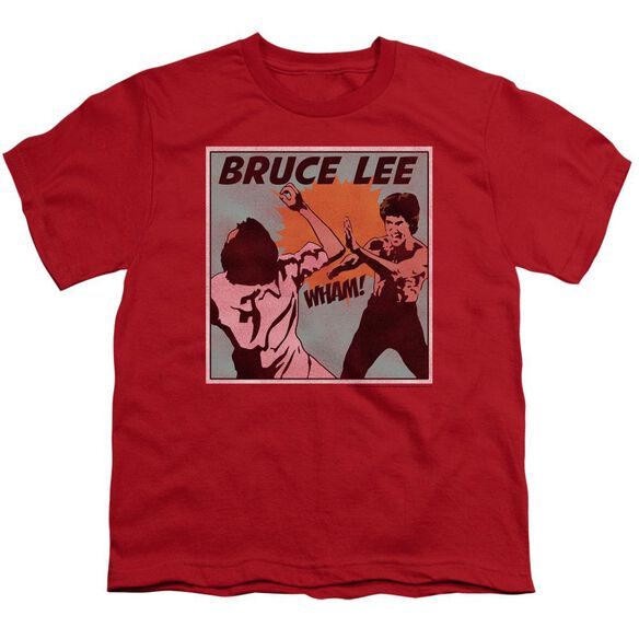 Bruce Lee Comic Panel Short Sleeve Youth T-Shirt
