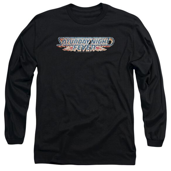 Saturday Night Fever Logo Long Sleeve Adult T-Shirt