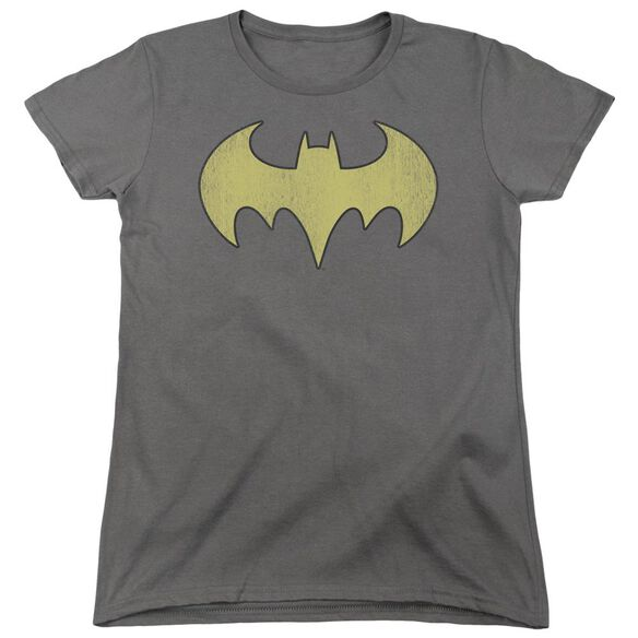 Dc Batgirl Logo Distressed Short Sleeve Womens Tee T-Shirt