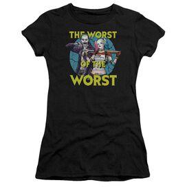 Suicide Squad Worst Pair Short Sleeve Junior Sheer T-Shirt