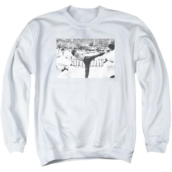 Bruce Lee Kick To The Head Adult Crewneck Sweatshirt
