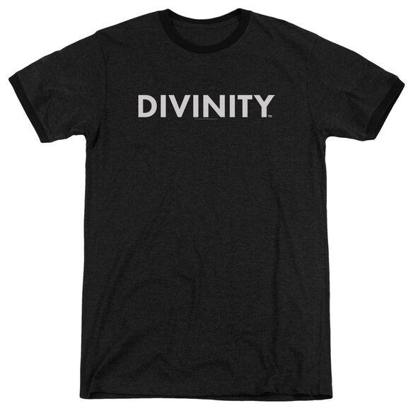 Valiant Divinity Logo Adult Heather Ringer