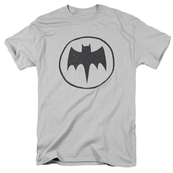 Batman Handywork Short Sleeve Adult Silver T-Shirt