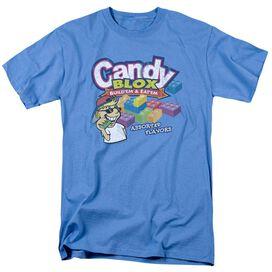 Dubble Bubble Candy Blox Short Sleeve Adult Carolina Blue T-Shirt