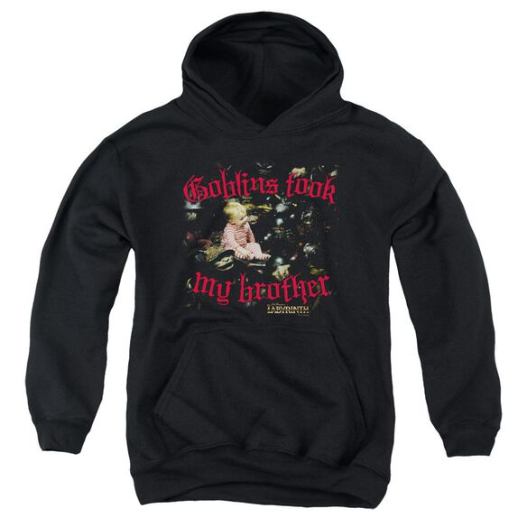 Labyrinth Goblins Took My Brother Youth Pull Over Hoodie