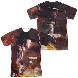Stevie Ray Vaughan Weather (Front Back Print) Short Sleeve Adult Poly Crew T-Shirt
