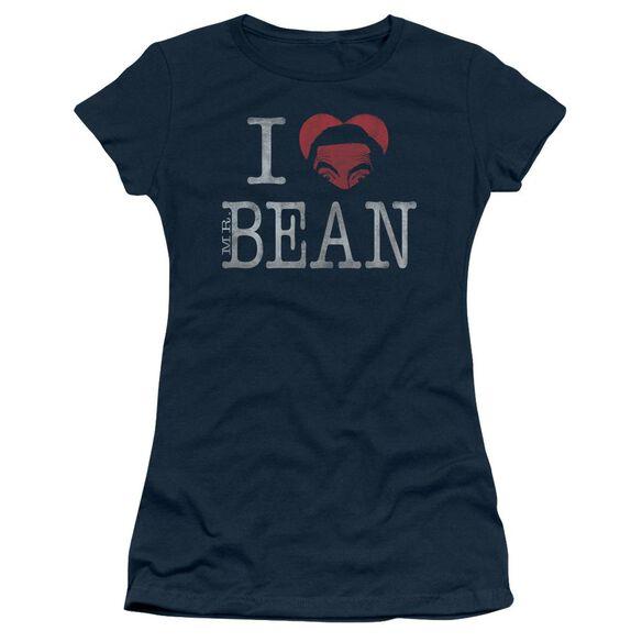 Mr Bean I Heart Mr Bean Short Sleeve Junior Sheer T-Shirt