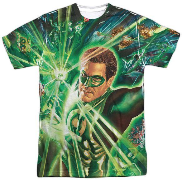 Green Lantern Lantern Burst Short Sleeve Adult 100% Poly Crew T-Shirt
